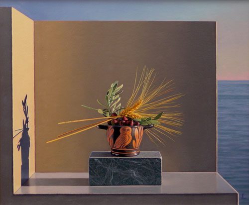 Artist painter David Ligare painting
