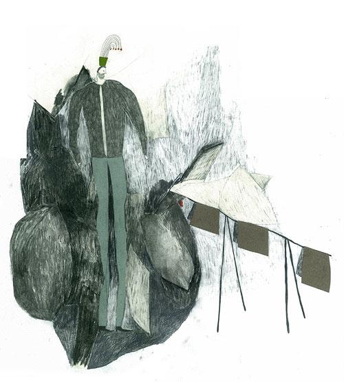 Drawings by artist Geran Knol