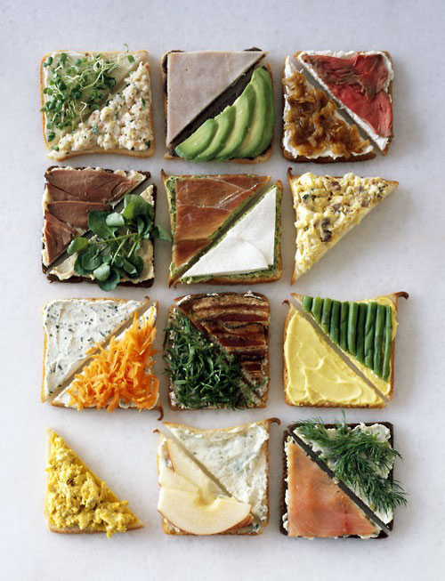 sandwiches triangles