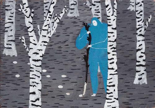 Drawings by artist Sretan Bor