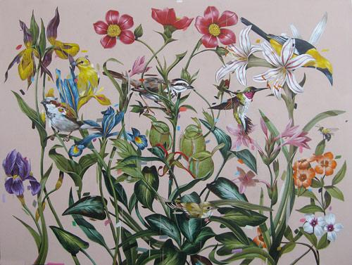 Artist painter Frank Gonzales painting