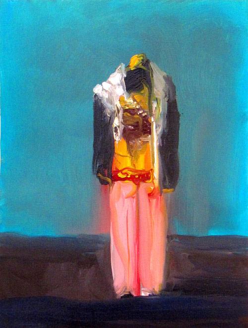 Artist painter Joseba Eskubi painting