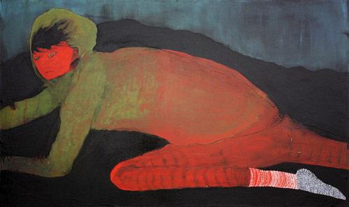 Artist painter Yoshiko Fukushima painting