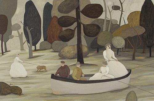 Artist painter Camilla Engman painting