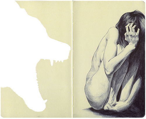 Moleskine drawings by artist Chamo San