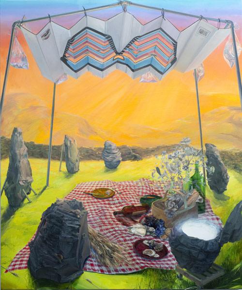 Artist painter painting Christine Gray