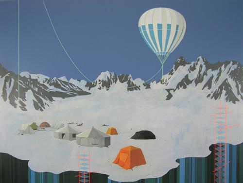 Artist painter Dean Monogenis painting