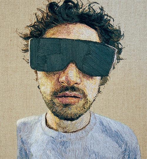 Embroidery portraits by artist Daniel Kornrumpf