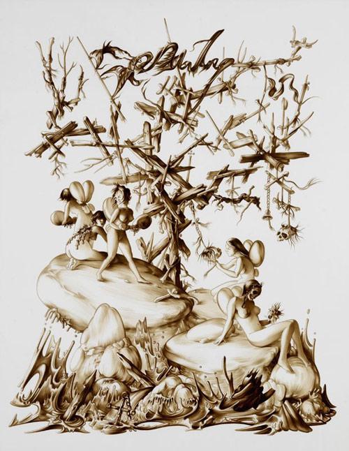 Artist Ewoud Van Rijn drawings
