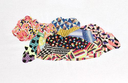 embroidery works by artist Jazmin Berakha
