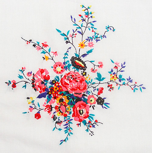 embroidery works by artist Jazmin Berakha