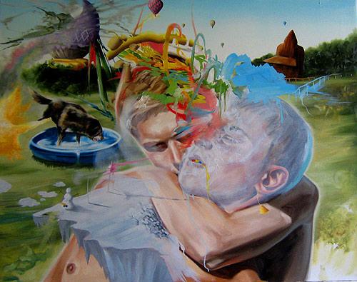 Artist painter Matt Lifson painting
