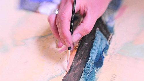 Artist painter Meghan Paterson painting
