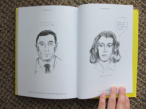 Drawings from the film Beginners by Mike Mills Book Giveaway Booooooom