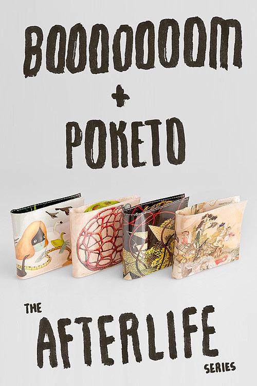 Booooooom x Poketo collaboration Afterlife Wallet Series