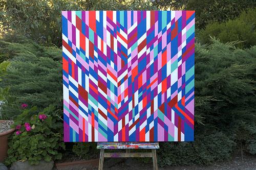 Artist painter Sam Songailo painting