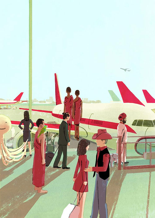Illustrator Tatsuro Kiuchi illustration