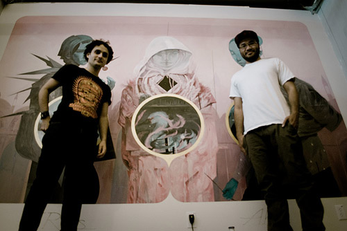Mural painted by Joao Ruas and Andrew Hem