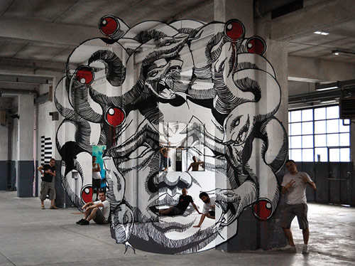 Medusa, Anamorph by Ninja1 and Mach505 of Truly Design Crew