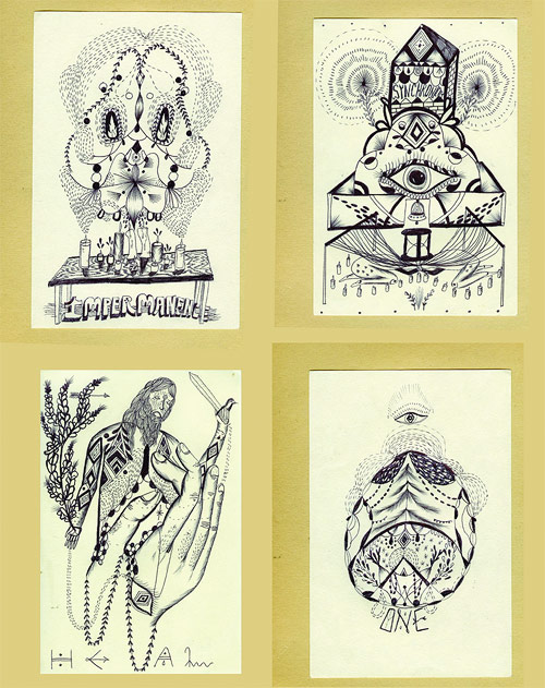 drawings by artist nick mann aka doodles