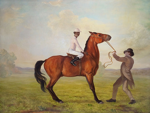 Artist painter Charles Browning painting