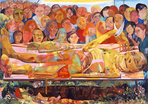 Artist painter Dana Schutz painting