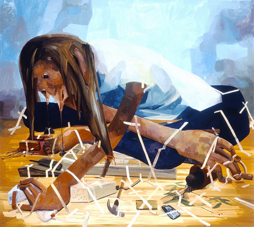 Artist painter Dana Schutz painting