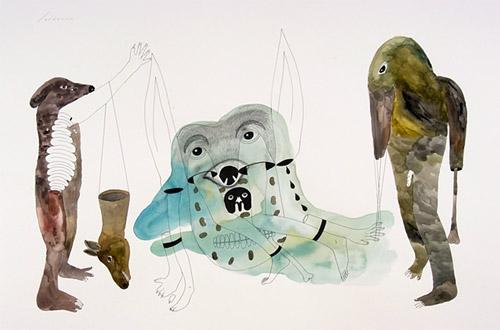 Drawings by artist Erik Jerezano