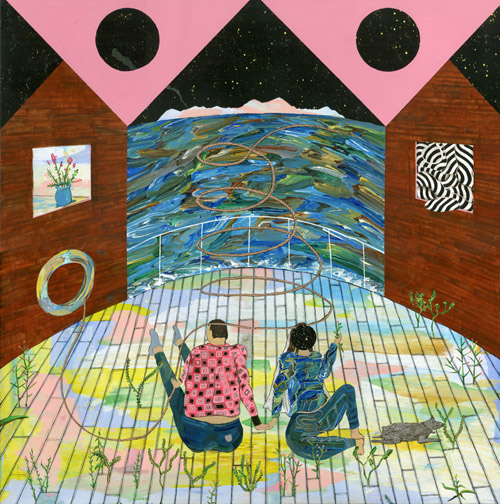 Artist painter Hiro Kurata painting