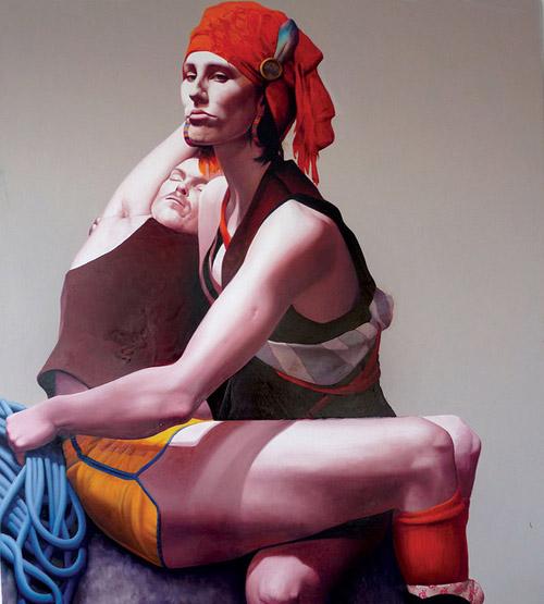 Artist painter Kirsty Whiten painting