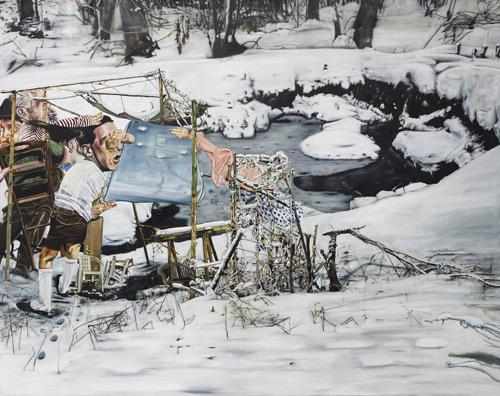 Artist painter Léopold Rabus