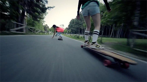 Longboard Girls Crew Carving The Mountains by Juan Rayos