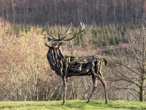 Driftwood sculptures by artist Heather Jansch