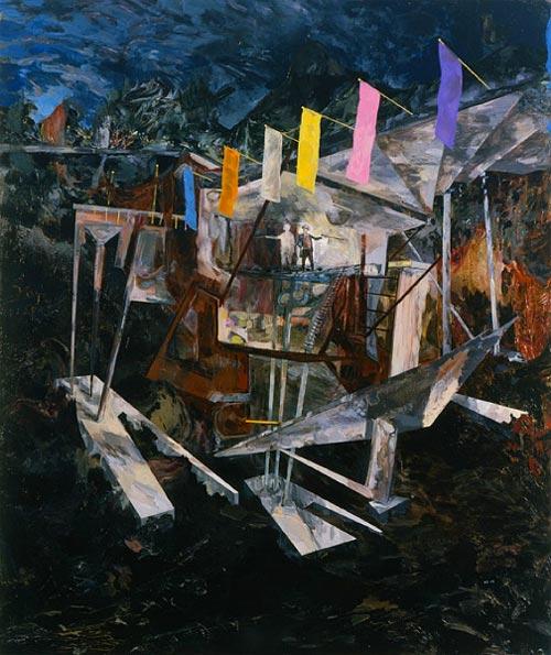 Artist painter Hernan Bas paintings