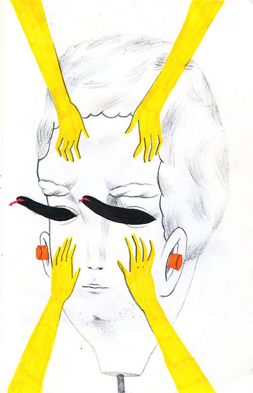 Andrea Wan mini journal drawings