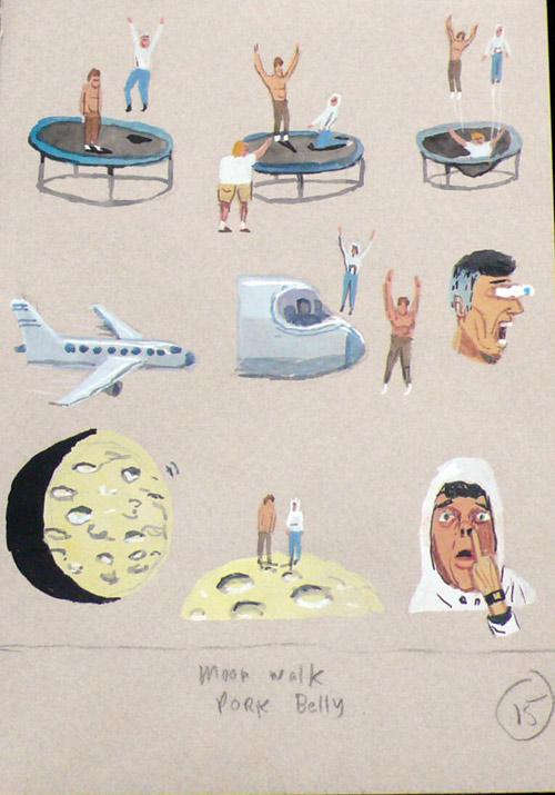 Drawings by artist Charlie Roberts