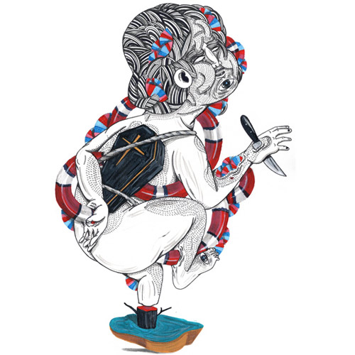 Drawings by artist Dimas Forchetti