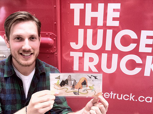 Booooooom Poketo wallet giveaway with The Juice Truck