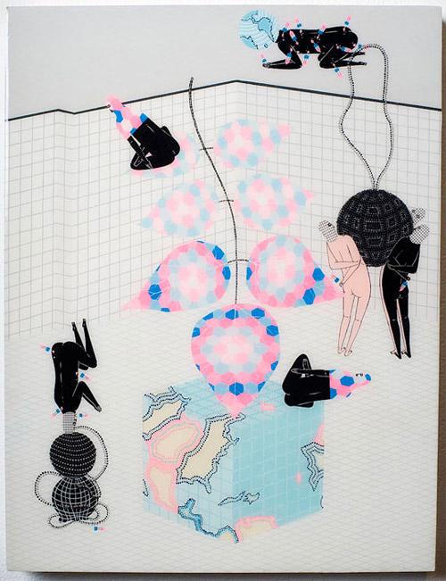 Artist painter Kill Pixie Mark Whalen paintings