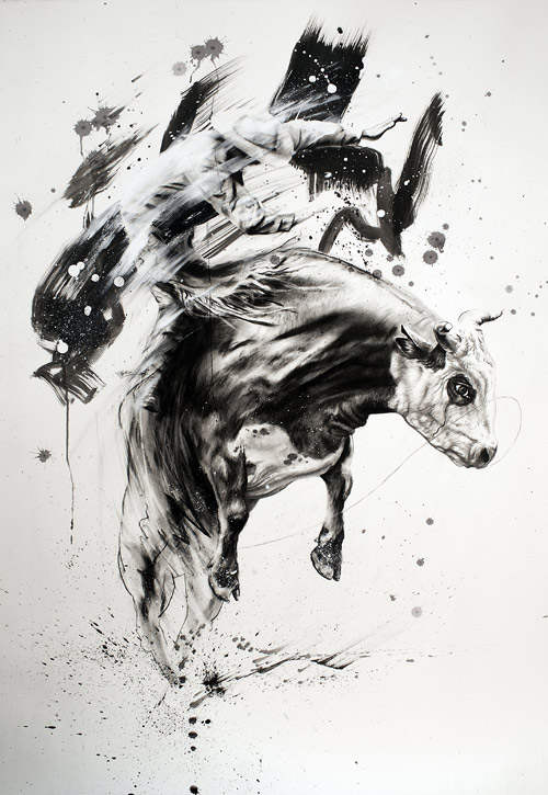 Drawings by artist Tom French