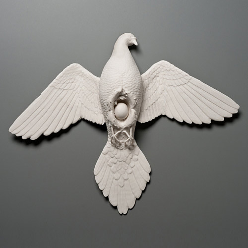 Porcelain sculptures by Kate MacDowell