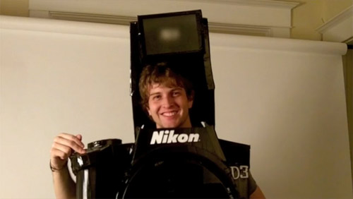 Fully Functional Camera Costume aka best halloween costume ever