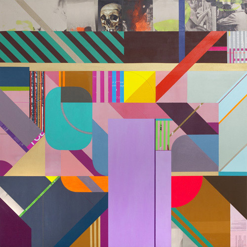 Mixed media works by artist Clark Goolsby