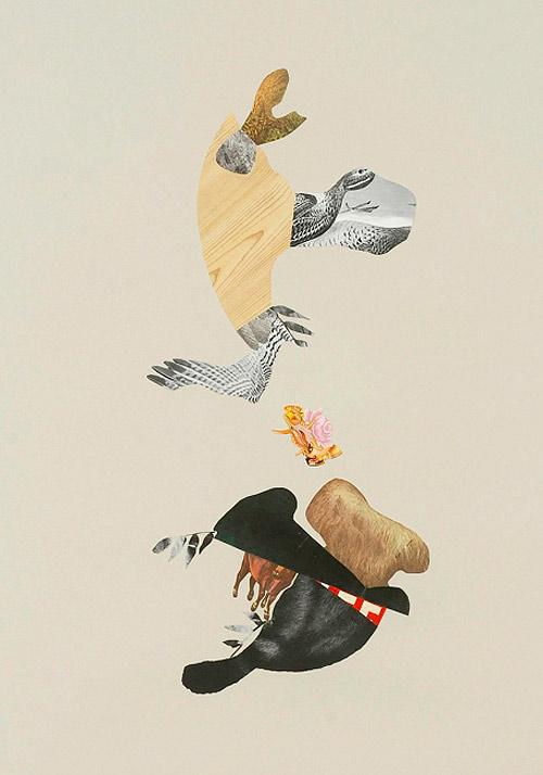 Collages by artist erika lawlor schmidt