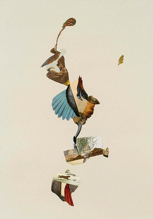 Collages by artist erika lawlor schmidt
