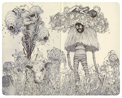 Sketchbook drawings by James Jean