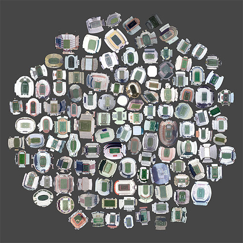 Satellite Collections by artist Jenny Odell collected from Google satellite view