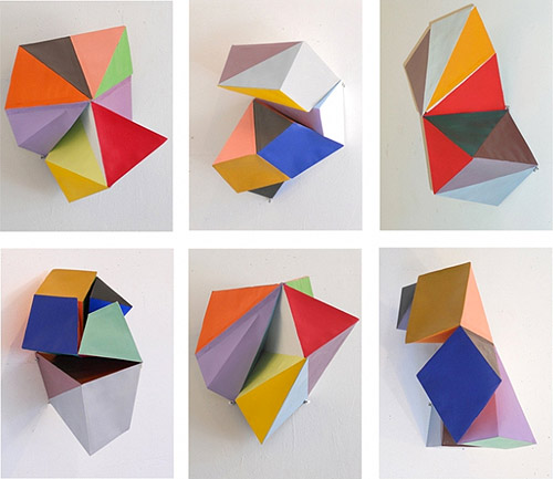 Paper sculptures by artist Lisa Hamilton