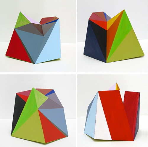 Paper sculptures by artist Lisa Hamilton