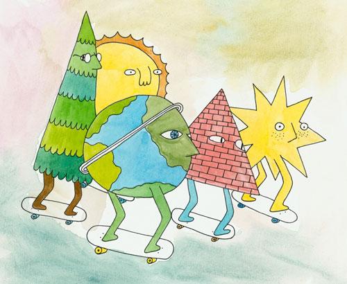 Artist illustrator Mike Perry illustration